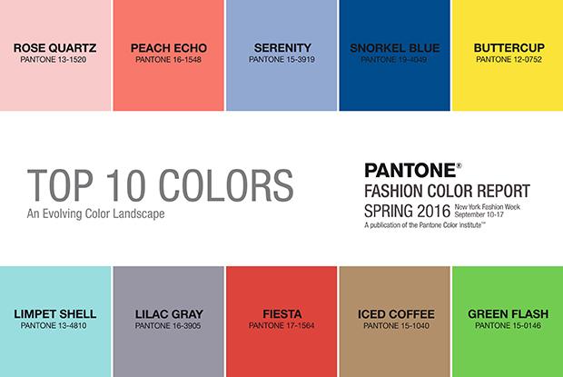 cores tendência pantone primavera 2016
