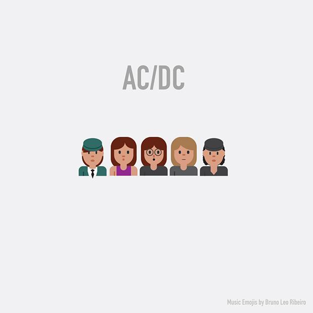 music emojis AC/DC