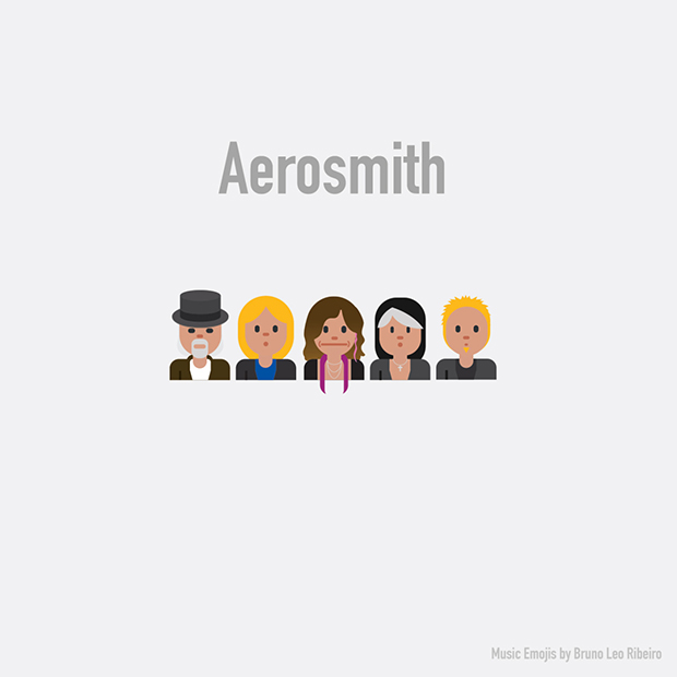 music emojis AEROSMITH