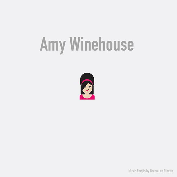 music emojis AMY WINEHOUSE