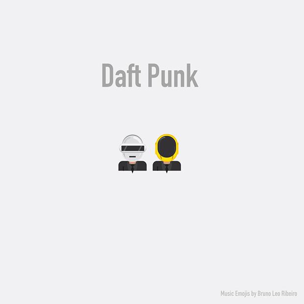 music emojis DAFT PUNK