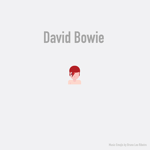 music emojis david bowie
