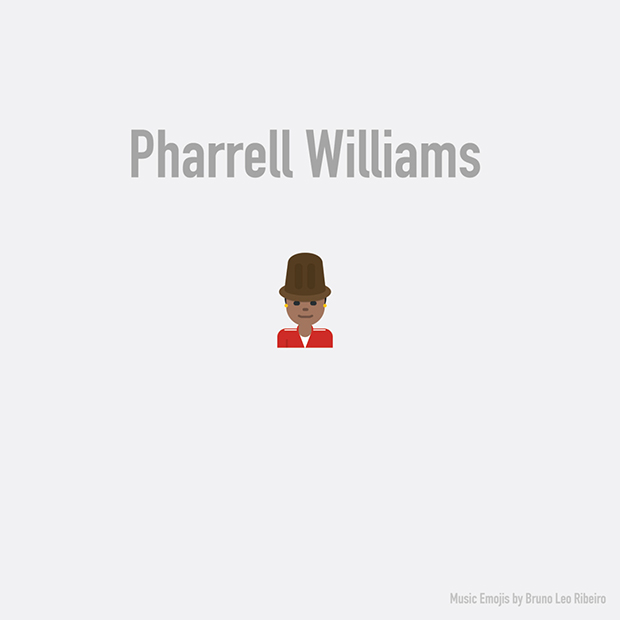 music emojis pharell williams