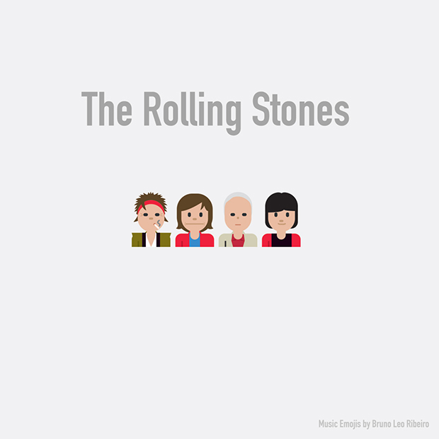 music emojis the rolling stones