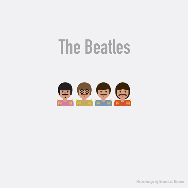 music emojis the beatles