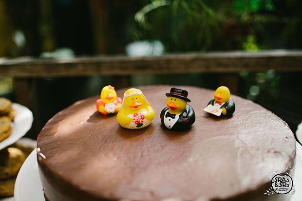 sras & esrs casamentos originais bolo pato