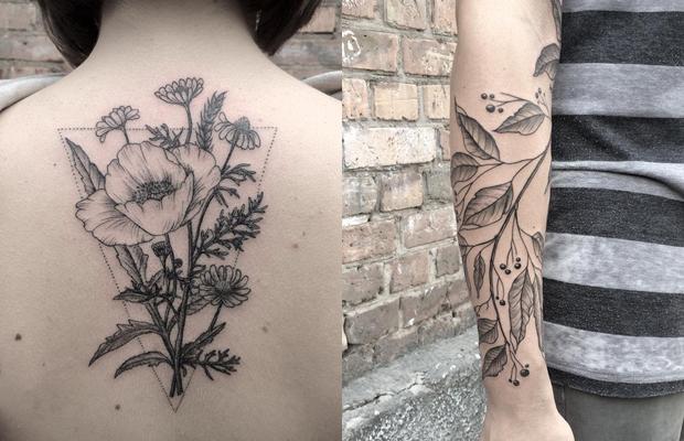 botanical tattoo