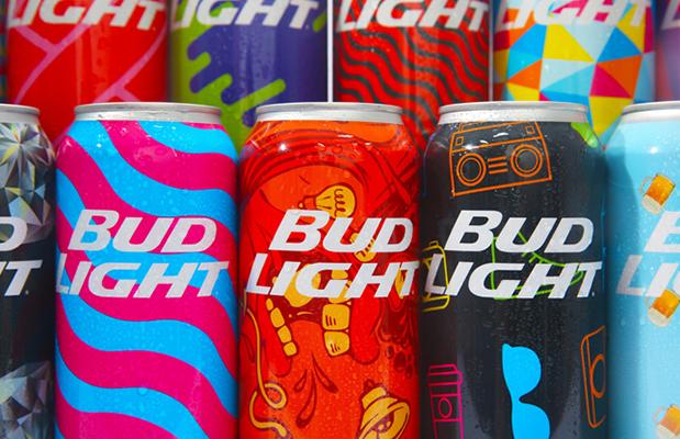 bud light latas personalizadas design embalagem