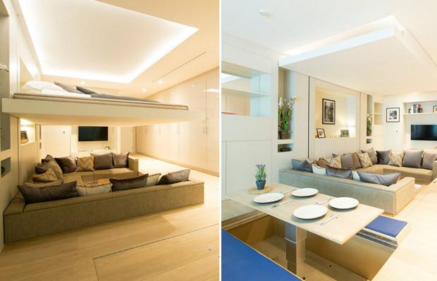 cama transforma sala blog arquitetura Simon Woodroffe