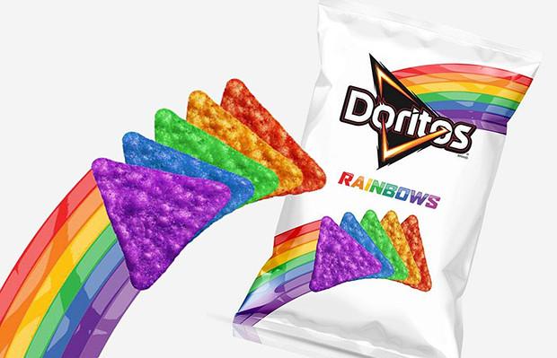 doritos rainbows lgbt colorido