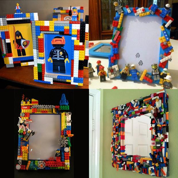 lego hacks moldura porta retrato espelho