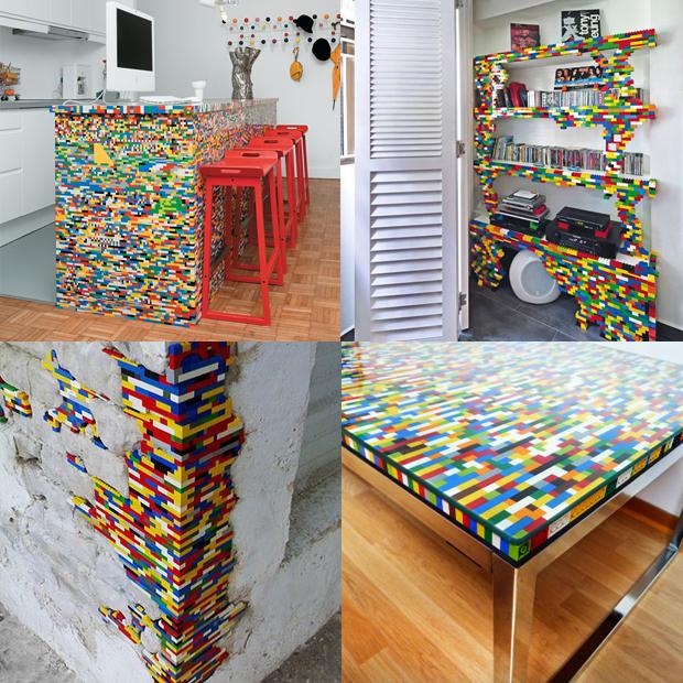 lego hacks móveis mesa estante