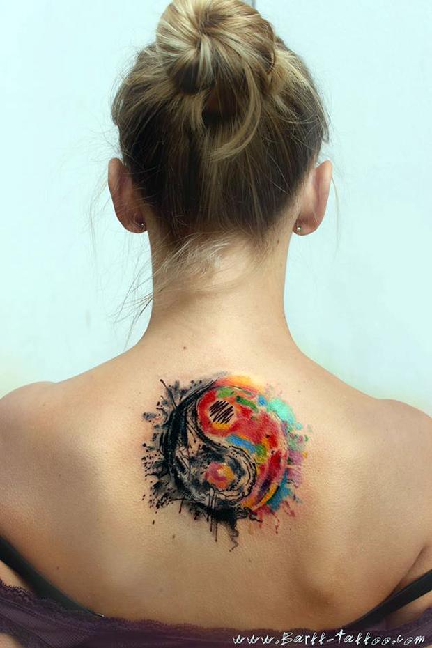 bartt tattoo pinceladas pinturas cores tatuagem contemporânea