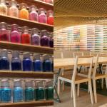 Essa fantástica loja de arte no Japão tem em suas prateleiras mais de 4.200 pigmentos de cores diferentes