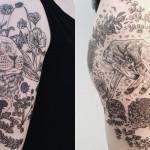 Pony Reinhardt aposta em gravuras vintage para criar fantásticas tatuagens inspiradas na flora e na fauna