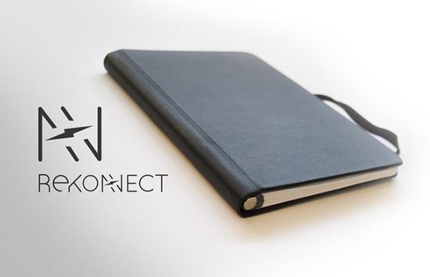 notebook com ímã rekonect