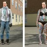 Fotógrafo revela tatuagens escondidas debaixo das roupas e questiona a atitude de julgar as pessoas pela aparência