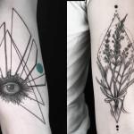 Inspirado pela natureza e formas geométricas, Okan Uckun cria tatuagens minimalistas extremamente meticulosas