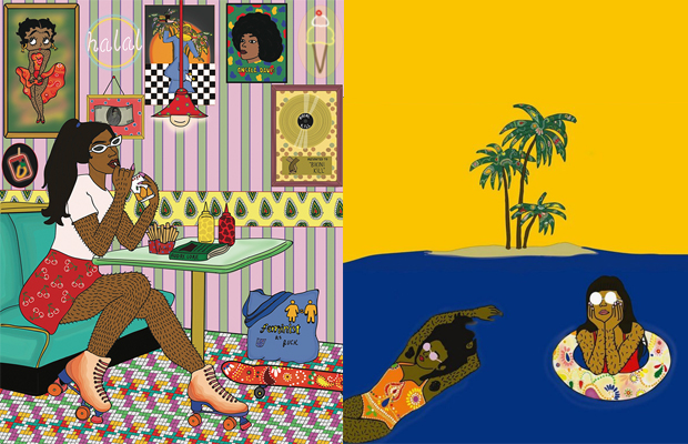 arte pelos femininos Ayqa Khan