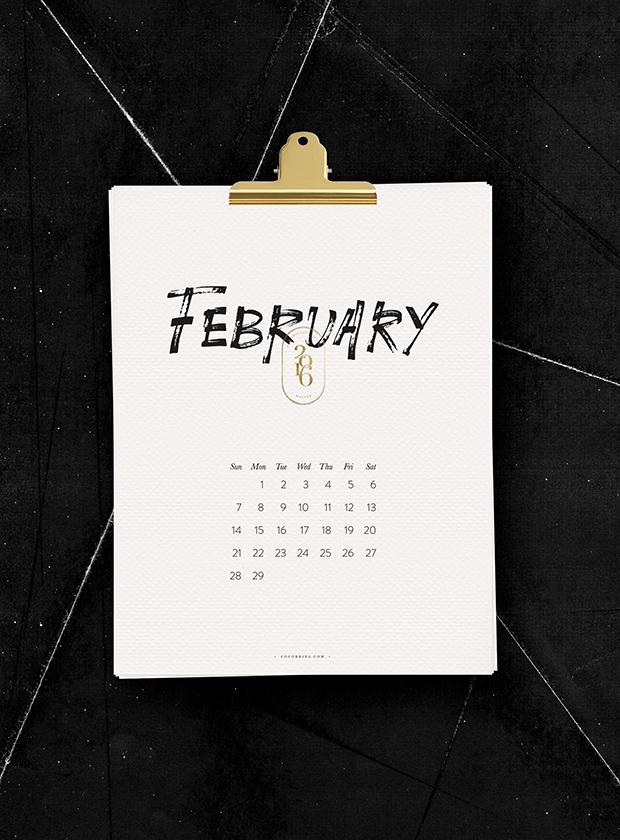 calendário 2016 para baixar cocorrina