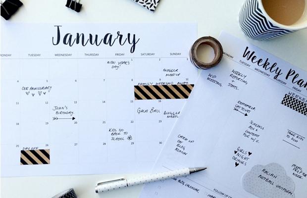 calendário 2016 para baixar small paper things