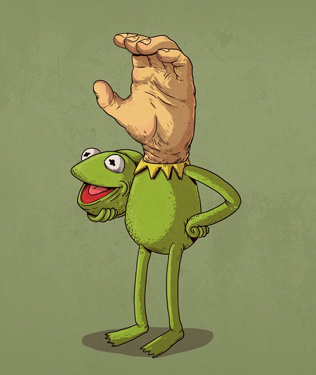 Icons Unmasked: Ilustrações revelam personagens da cultura pop 'desmascarados'