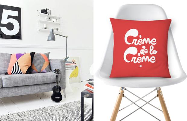 tendência de decoração em 2016 almofadas estampadas