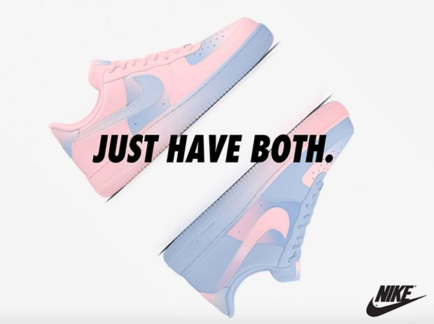 tênis Nike Air Force 1 versão cor do ano Pantone 2016