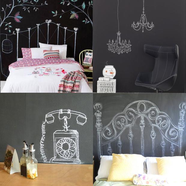 Desenho Em Quarto ~ 6 ideias super originais para decorar a sua parede de tinta lousa Follow the Colours