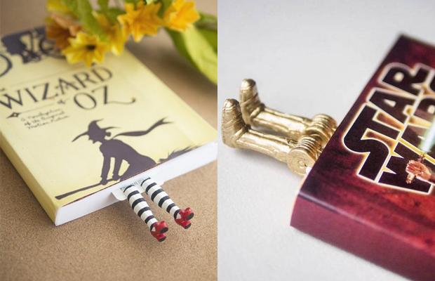 marcadores de livro pés de personagens Olena Mysnyk