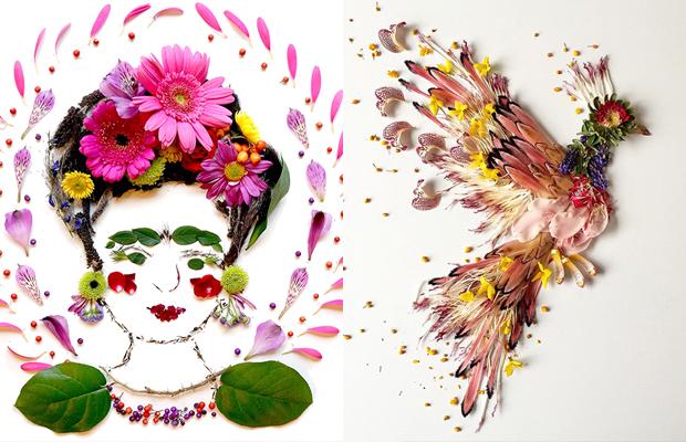arte botânica flores plantas Flora Forager