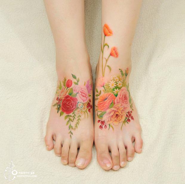 delicadas tatuagens aquarela aro tattoo tattooist silo flores