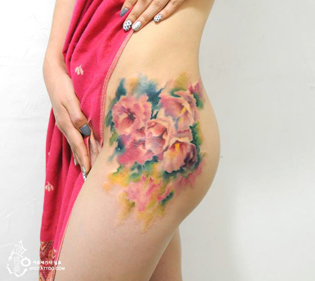 delicadas tatuagens aquarela aro tattoo tattooist silo