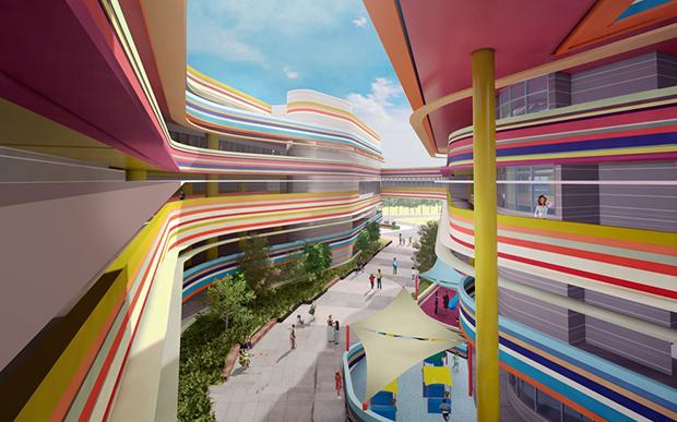 escola infantil arquitetura colorida singapura nanyang