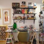 Up no Home Office: uma fantástica decoração memorabilia de um home office em Londres