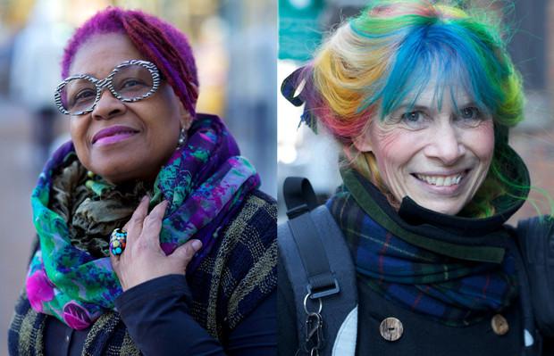 Rainbow Hair cabelos coloridos senhoras