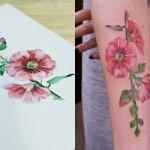 Ao usar plantas e flores como estêncil, Rit Kit cria tatuagens botânicas coloridas bem diferentes do que você já viu
