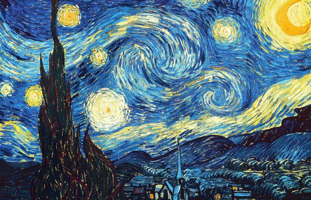 van gogh noite estrelada turbulência