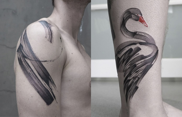 Lee Stewart brushstrokes tattoos
