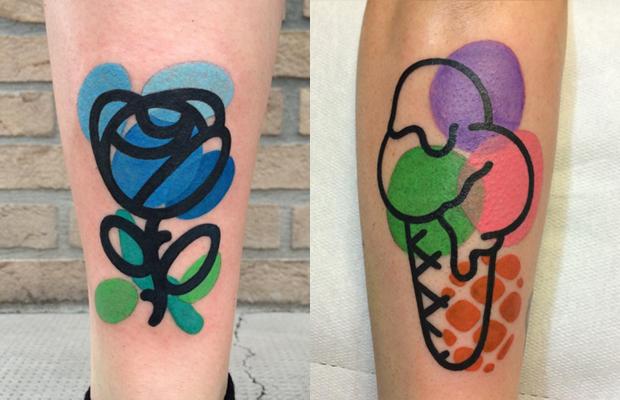 Mattia Mambo Tattoo cores vibrantes