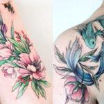 Ao se inspirar nos animais e nas flores, Olga Koroleva cria delicadas tatuagens coloridas na pele