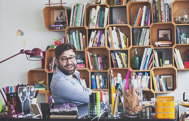 Up no Home Office decoração Fabio Maca caligrafo