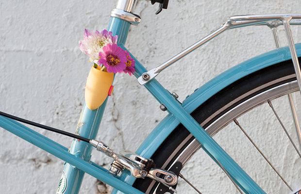 vasos de flores para bicicletas impressos 3D Wearable Planter
