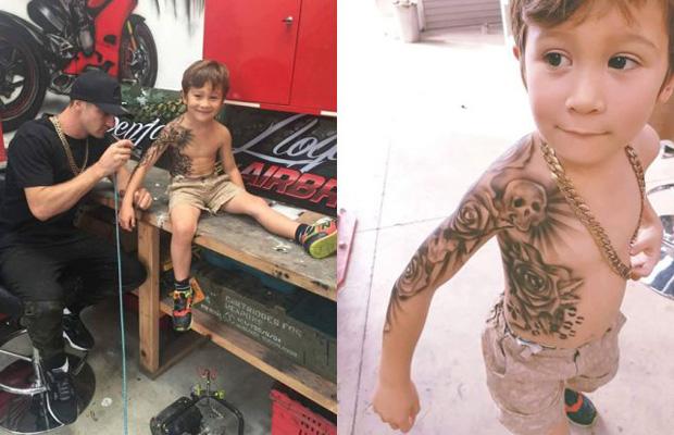 Benjamin Lloyd tatuagens temporárias crianças doentes
