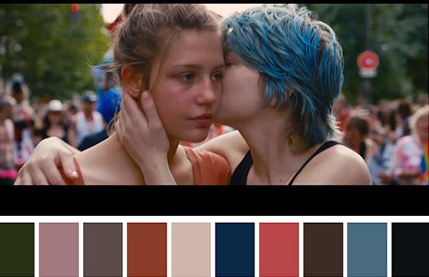 Cinema palettes cores filmes