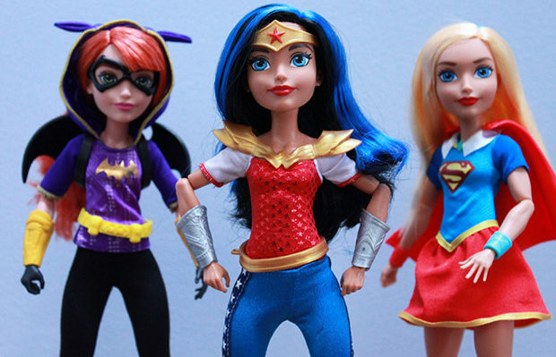 DC Superhero girls bonecas super-heroínas Mattel