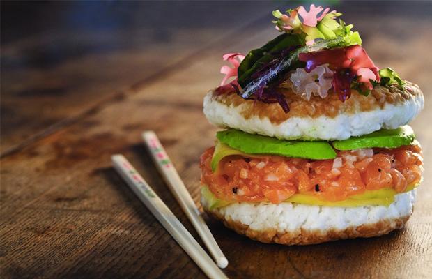 sushi burger tendência gastronômica