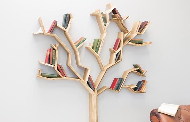 estantes inspiração natureza árvore Bespoake interiors