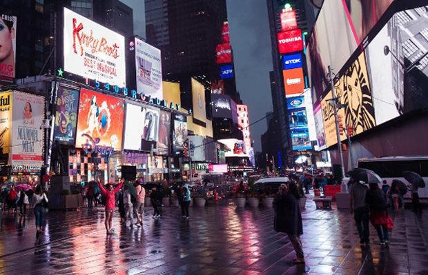 destinos mais populares compartilhados no Instagram Times Square