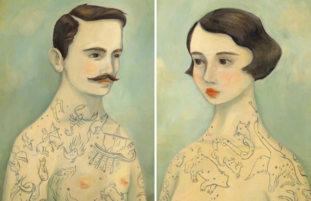 pinturas tatuadas Emily Winfield Martin